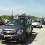 Установка багажника (Рейлинги для Chevrolet Orlando)